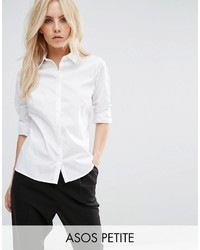 Asos Petite Petite Fitted White Shirt
