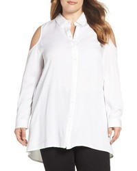 Glamorous Plus Size Cold Shoulder Shirt