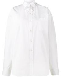 Balenciaga Scarf Tie Shirt