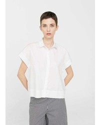 Mango Short Sleeved Cotton Shirt