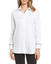 Ming Wang Split Sleeve Shirt