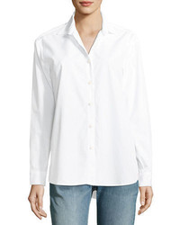 Kule The Hutton Button Front Oversized Oxford Shirt