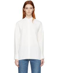 Helmut Lang White Back Overlap Shirt