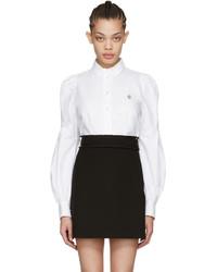 Marc Jacobs White Bishop Sleeve Shirt