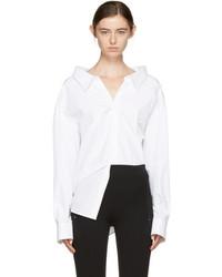 Balenciaga White Pinched Collar Shirt