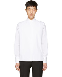 Lanvin White Poplin High Neck Shirt