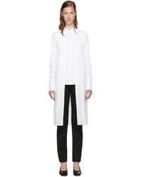 Rosetta Getty White Poplin Split Front Shirt