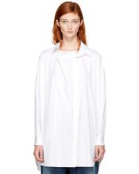 Y's Ys White O Front Drape Shirt