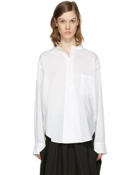 Y's Ys White Open Collar Shirt