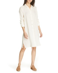 Eileen Fisher Classic Crinkle Organic Cotton Shirtdress