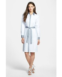 Nordstrom Collection Colorblock Twill Shirtdress