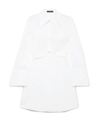 Ellery Convertible Cotton Poplin Shirt Dress