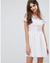 Oasis Cotton Tie Shoulder Shirt Dress