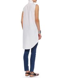 Eileen Fisher Fisher Project Long Sleeveless Shirtdress