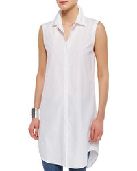 Eileen Fisher Fisher Project Long Sleeveless Shirtdress