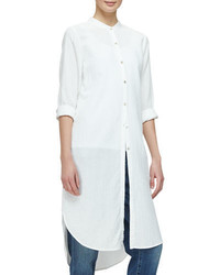 Eileen Fisher Mandarin Collar Calf Length Shirtdress