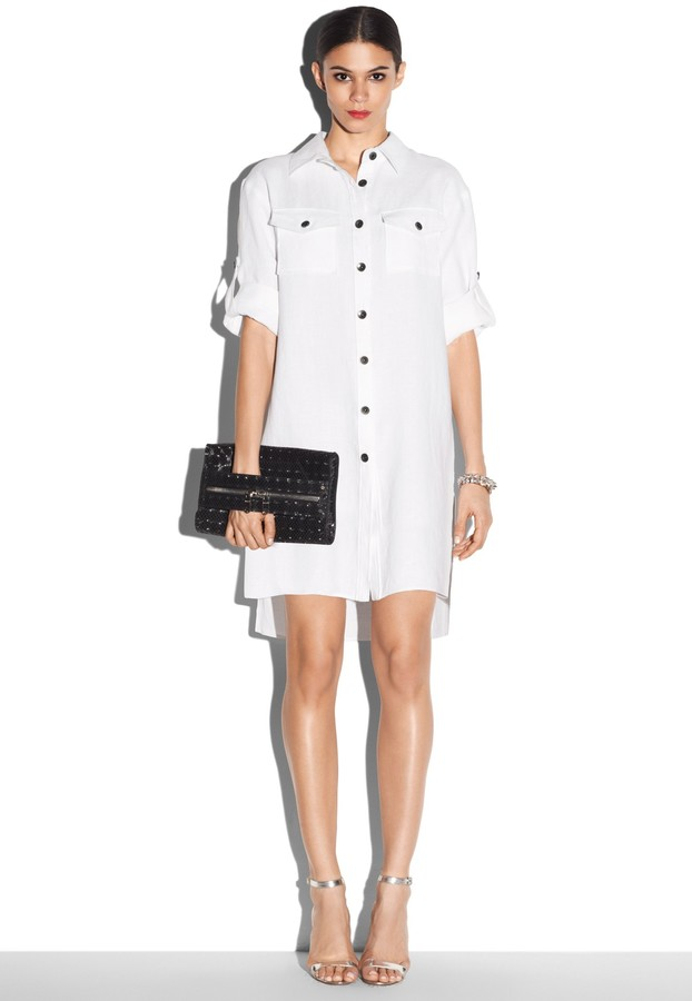 Milly shirt dress where to buy how to wear Buy white dress shirt