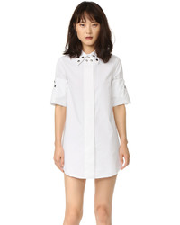 Maison Margiela Mm6 Cinched Grommet Shirtdress