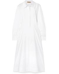 Burberry Stretch Cotton Poplin Shirt Dress