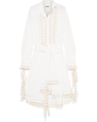 Loewe Tasseled Poplin Midi Dress