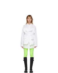 Junya Watanabe White Blazer Shirt Dress