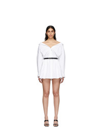 Alexander Wang White Mini Shirt Dress