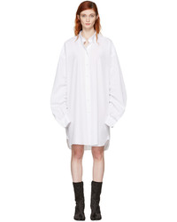 Maison Margiela White Oversized Shirt Dress