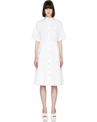 Kenzo White Poplin Shirt Dress