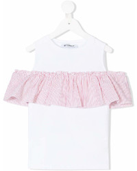 Dondup Kids Cold Shoulders Ruffled Blouse