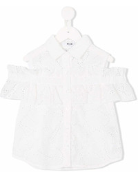 MSGM Kids Broderie Anglaise Buttoned Blouse