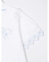 Fendi Kids Teen Short Sleeve Ruffle Blouse