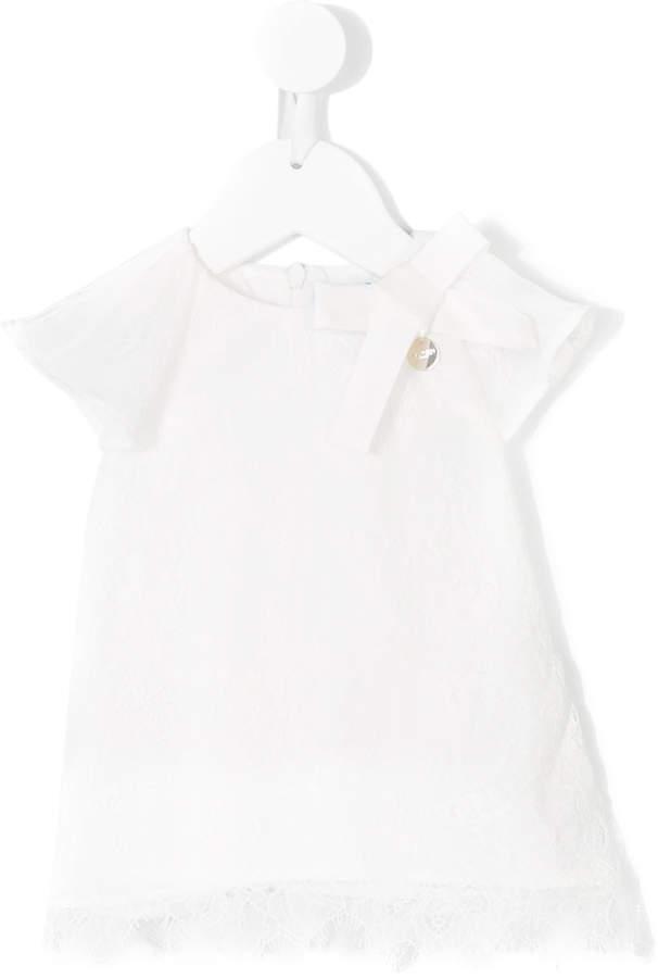 Lanvin Enfant Embellished Short Sleeve Blouse