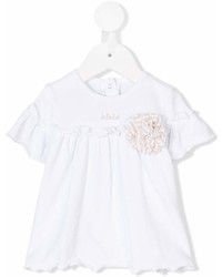 Le Beb Enfant Gathered Shortsleeved Blouse