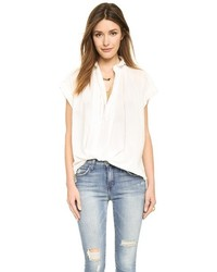 Nili Lotan Short Sleeve Normandy Blouse