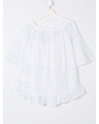Elsy Teen Short Sleeve Perforated Blouse