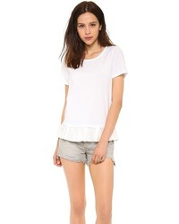 Clu Too Ruffled Short Sleeve Top