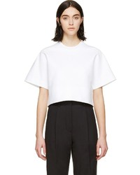 Dsquared2 White Cropped Short Sleeve T Shirt