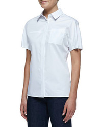 White short sleeve button down shirt original 9837749