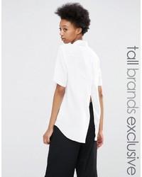 Adpt Tall Adpt Tall Short Sleeve Wrap Back Detail Shirt