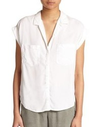 Bella Dahl Cross Back Short Sleeve Blouse