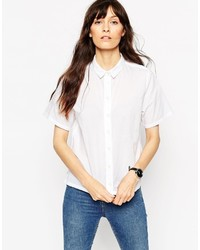 Asos Collection Boxy Shirt With Short Sleeve