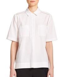 Vince Cotton Ladder Stitch Pocket Shirt