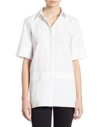 Alice + Olivia Dy Double Layer Cotton Poplin Shirt