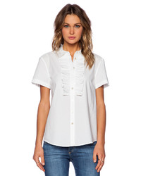 Marc by Marc Jacobs Lyra Washed Poplin Short Sleeve Shirt