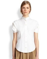 Michael Kors Michl Kors Cotton Poplin Puffed Sleeve Blouse