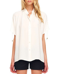 Michael Kors Michl Kors Tie Sleeve Blouse Optic White