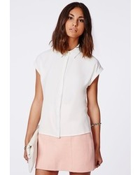 Missguided Ellessa Short Sleeve Shirt White