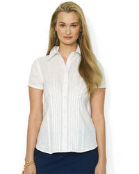 Lauren Ralph Lauren Pleated Linen Shirt
