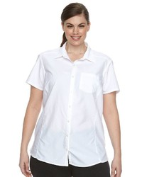 Columbia Plus Size Amberley Omni Shade Shirt