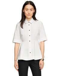 Kate Spade Poplin Peplum Shirt